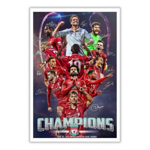 Liverpool FC Champions League 2019 Poster