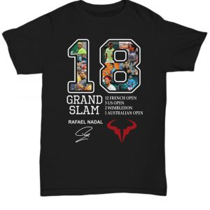Rafael Nadal Signature 18 Grand Slam Shirt