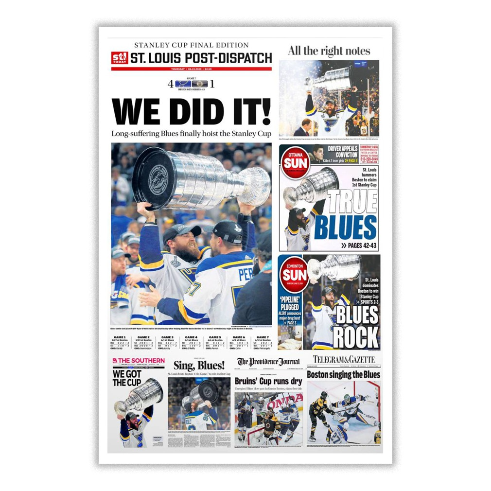 Stanley Cup Final Edition St. Louis Post-Dispatch We Did It Small Poster