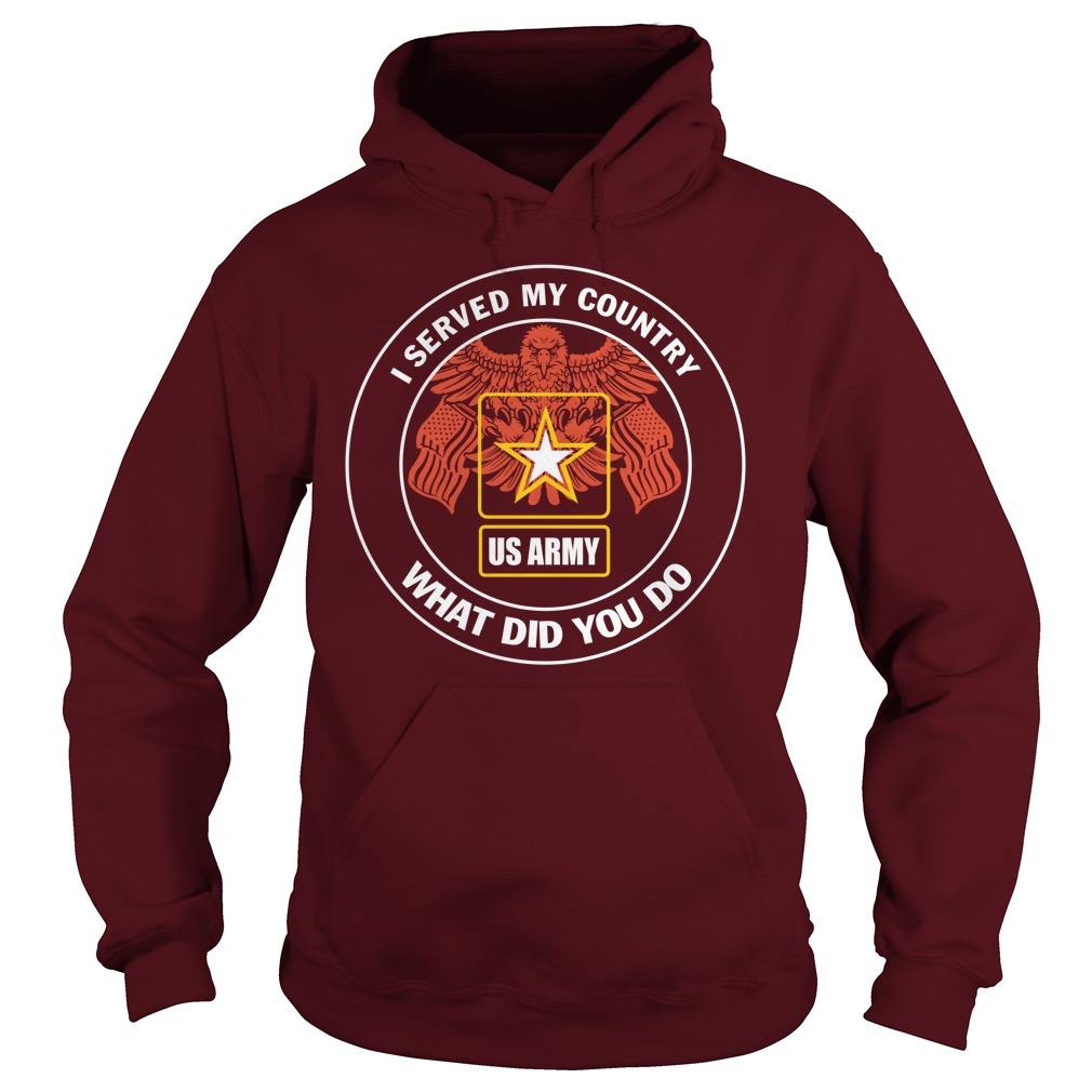 U.S Army Served My Country What Did You Do Hoodie