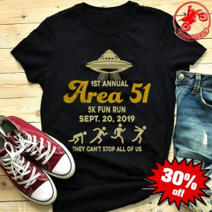 1st annual area 51 5k fun run Sept 20 2019 shirt