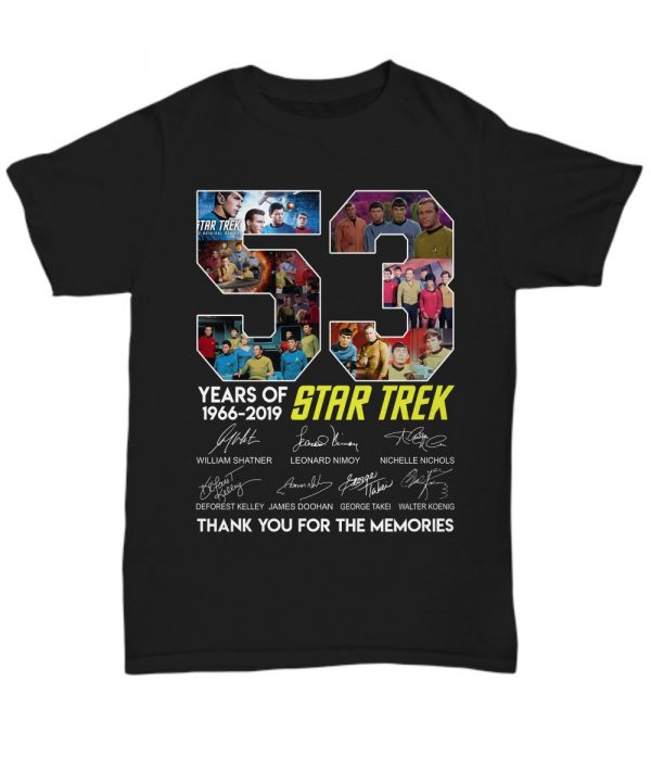53 years of Star Trek 1966-2019 thank you for the memories signature shirt