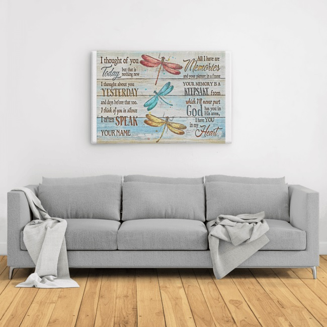 Butterfly I Thought Of You Today But That Is Nothing New Large Landscape Canvas
