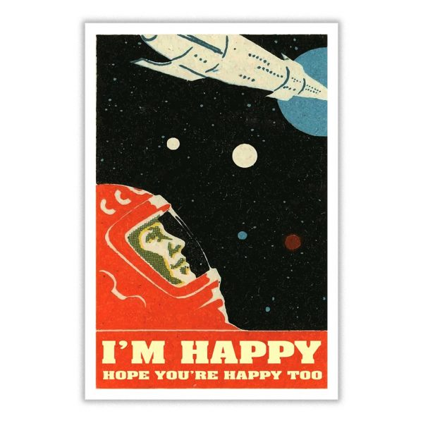 David Bowie I'm happy hope you're happy too poster