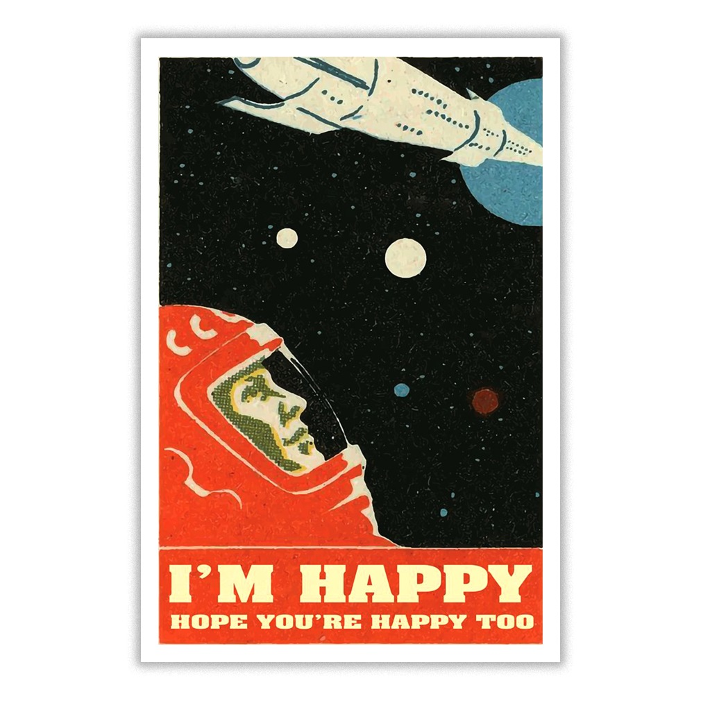 David Bowie I'm happy hope you're happy too small poster