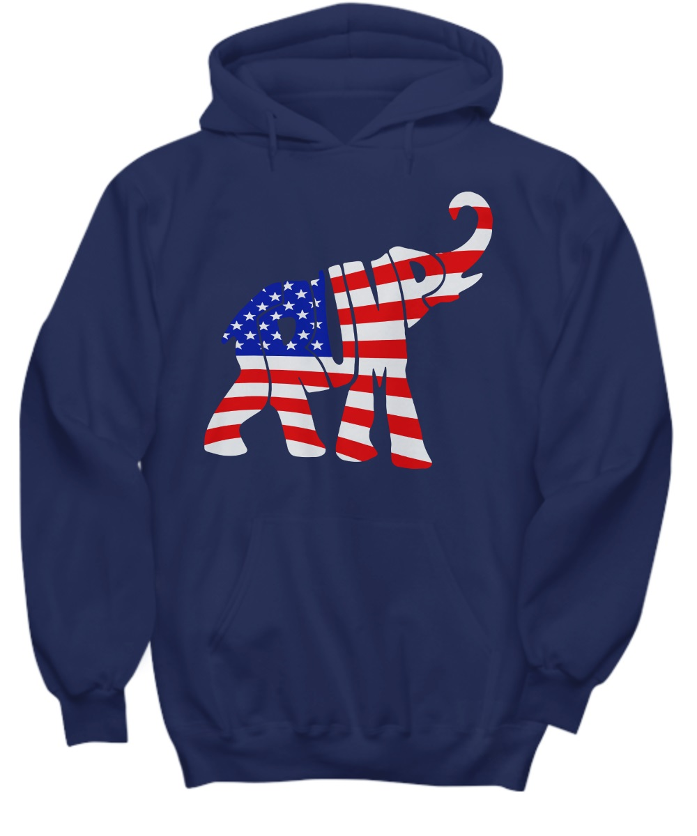 Donald Trump Republican Elephant American Flag hoodie