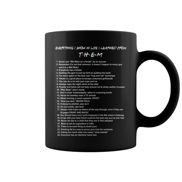 Everything I Know In Life I Learned From Them Mug