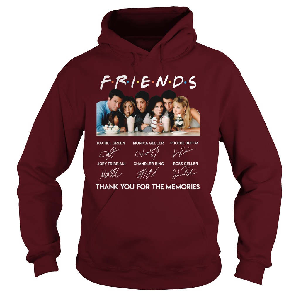 Friends Thank You For The Memories Signature Hoodie