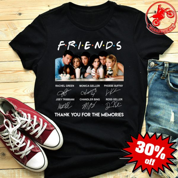 Friends Thank You For The Memories Signature Shirt