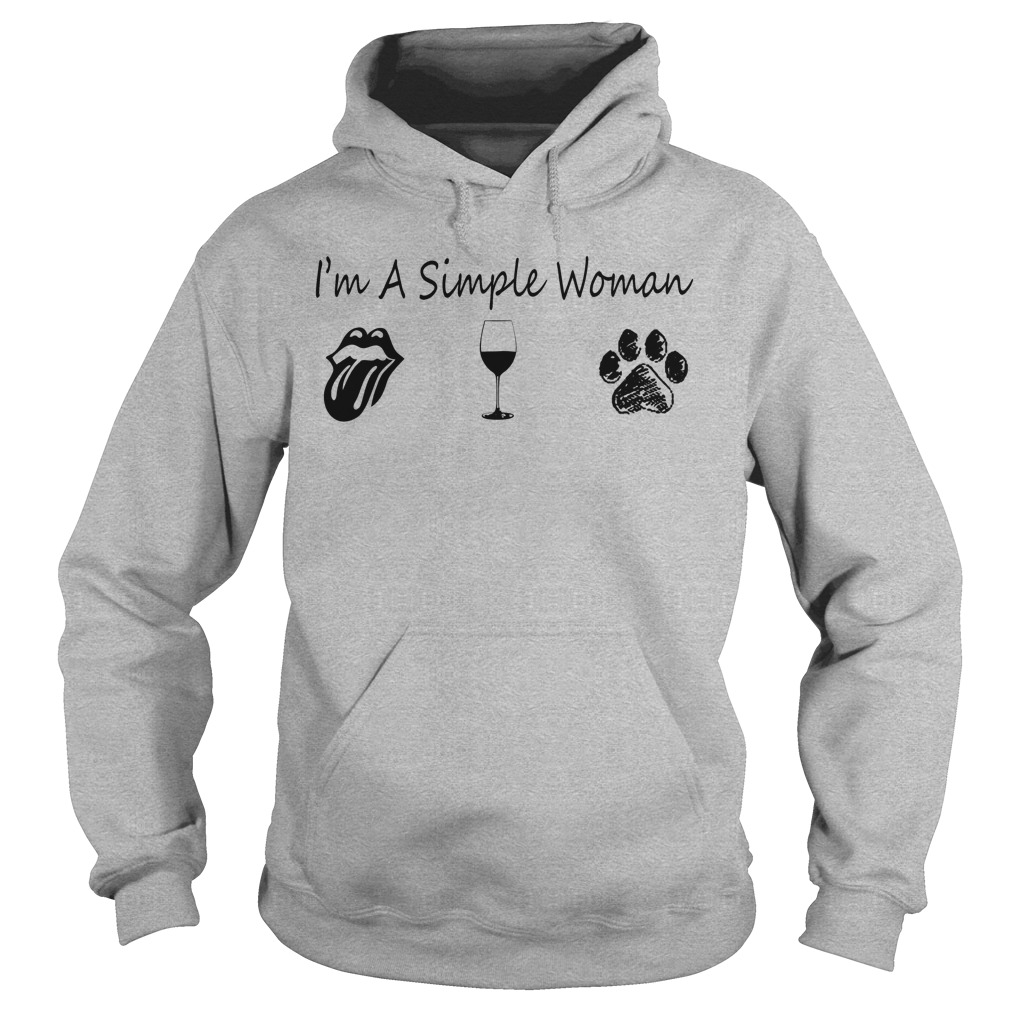 I'm A Woman Loves The Rolling Stones Tongue Wine And Dog Hoodie