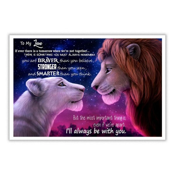 Mufasa and Nala to my wife if ever there is a tomorrow poster