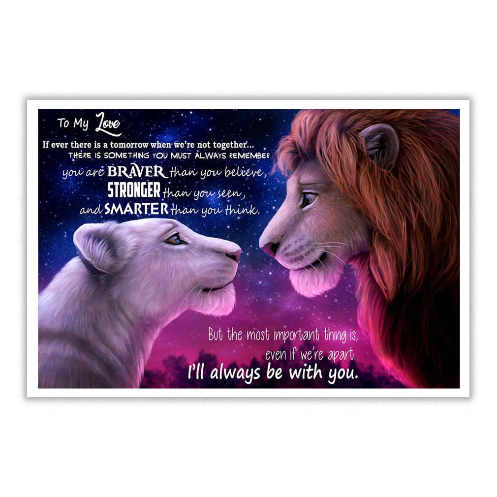 Mufasa and Nala to my wife if ever there is a tomorrow small poster