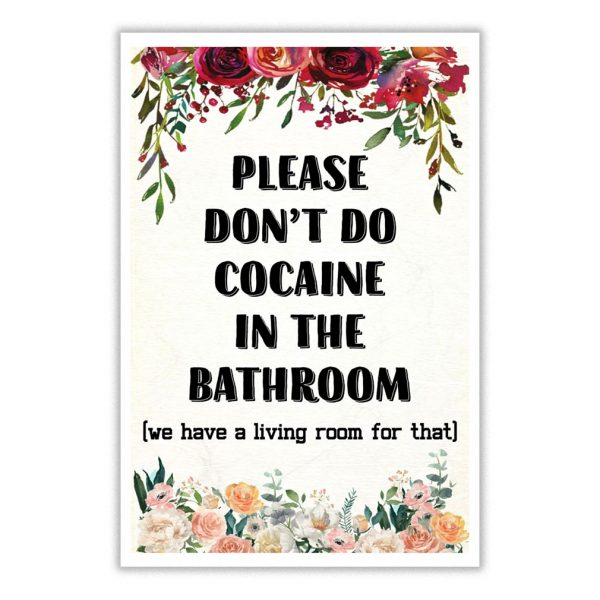 Please Don't Do Cocaine In The Bathroom Poster