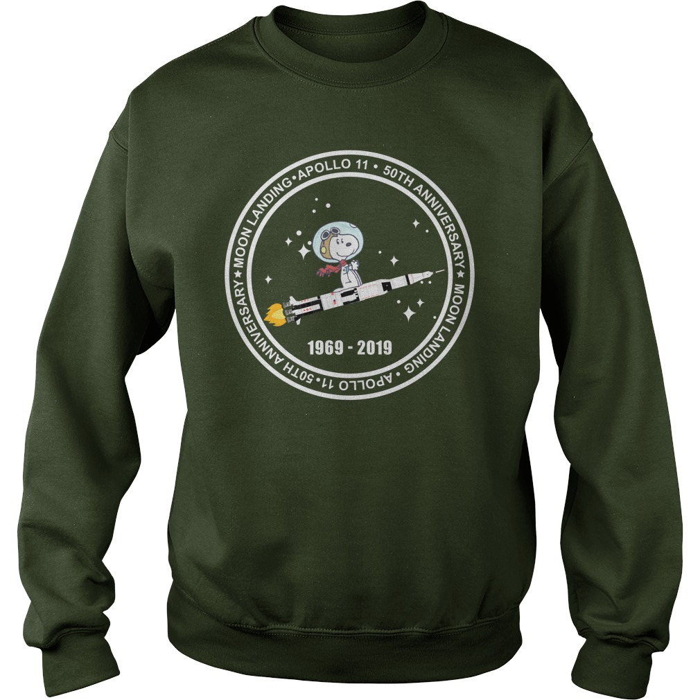 Snoopy Apollo 11 50th Anniversary 1969 - 2019 Sweatshirt