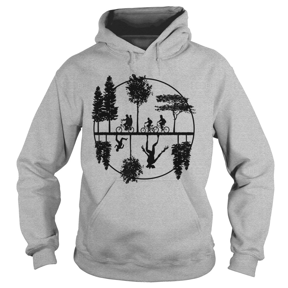 Stranger Style Pop Culture With A World Upside Down Hoodie