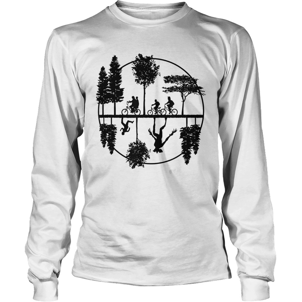 Stranger Style Pop Culture With A World Upside Down Lady Long Sleeve
