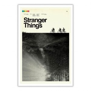 Stranger Things Trees The Upside Down Poster