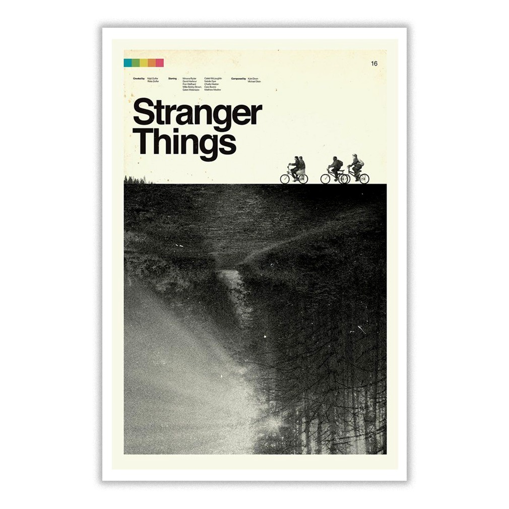 Stranger Things Trees The Upside Down Small Poster