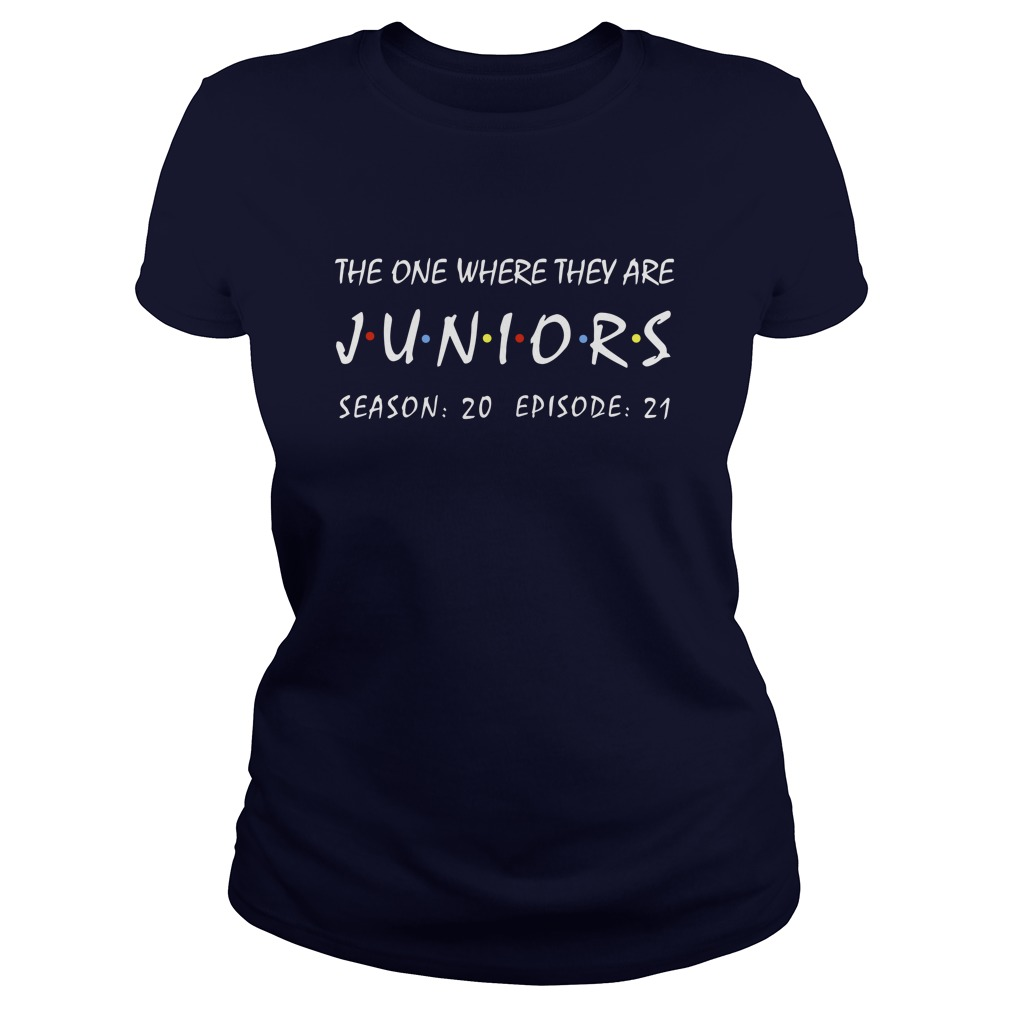 The one where they are juniors season 20 episode 21 lady shirt