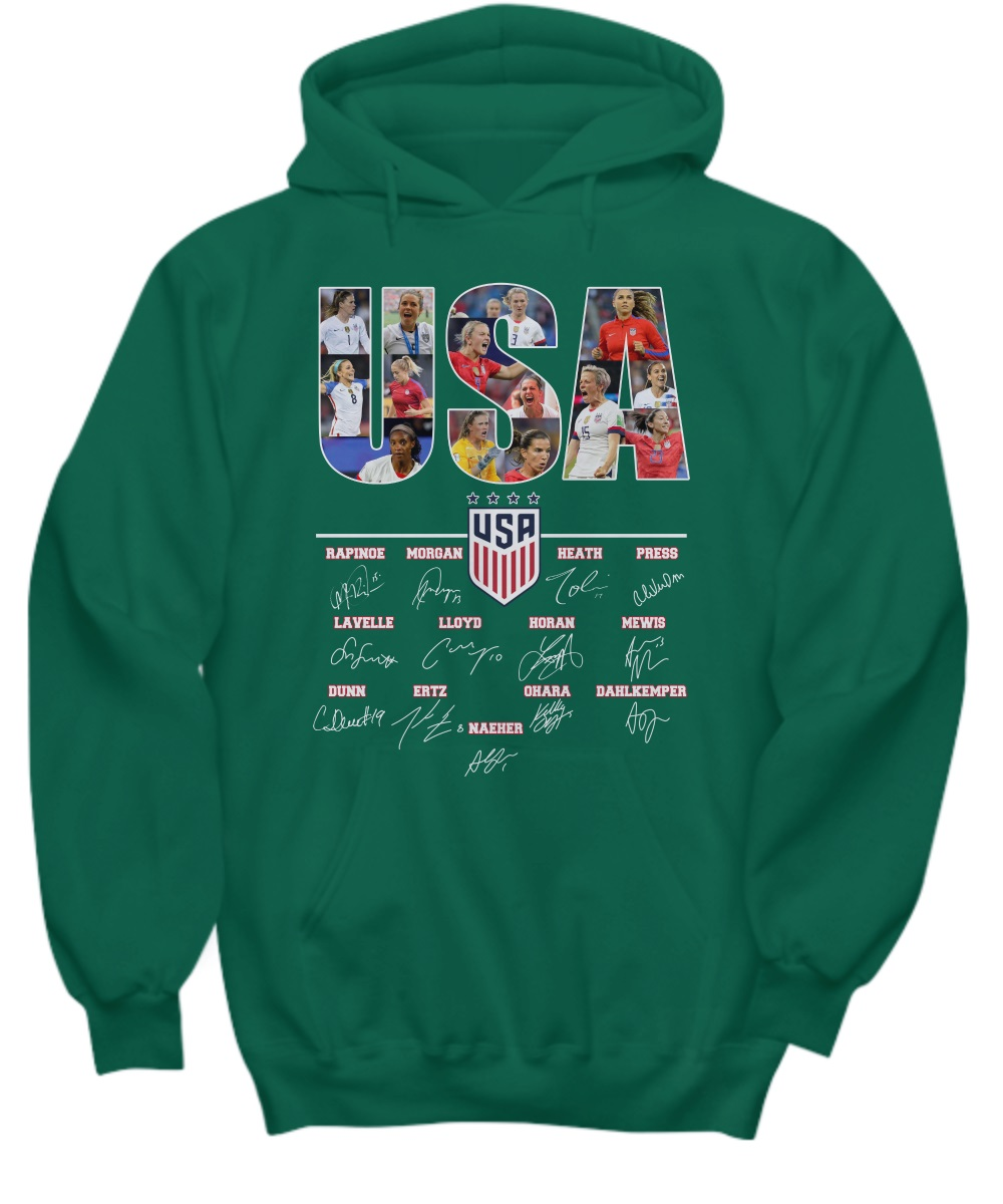 USA women's national soccer team signature 2019 hoodie