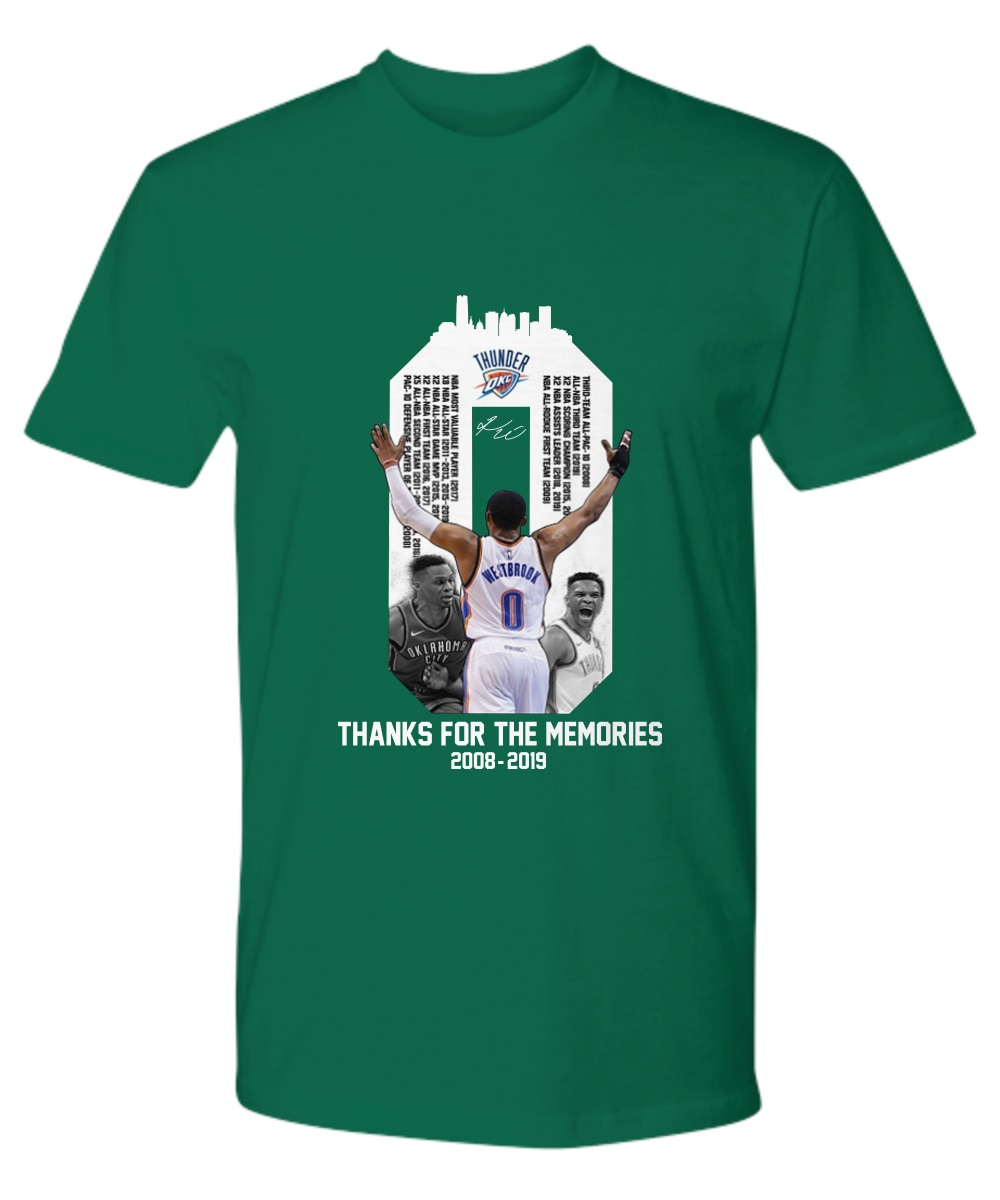 Westbrook Thanks For The Memories 2018-2019 Premium Shirt