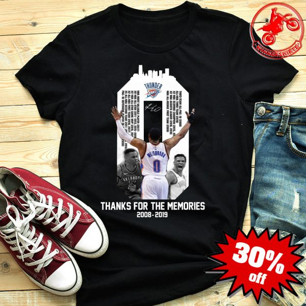 Westbrook Thanks For The Memories 2018-2019 Shirt