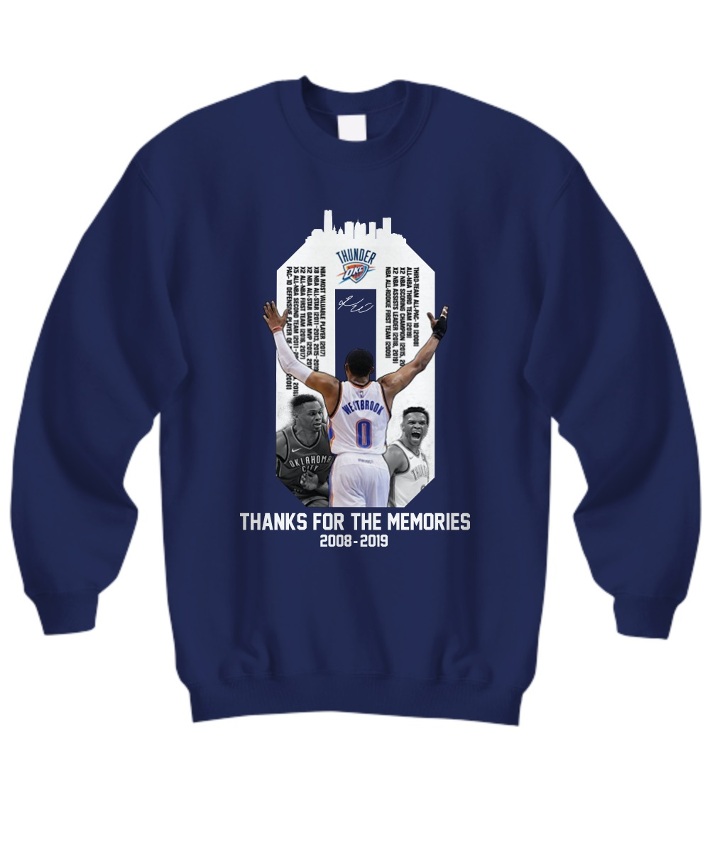 Westbrook Thanks For The Memories 2018-2019 Sweatshirt