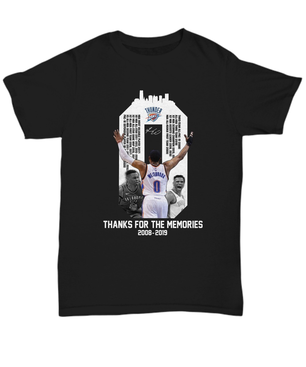 Westbrook Thanks For The Memories 2018-2019 Unisex Shirt