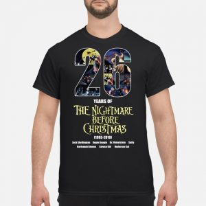 26 years of The Nightmare Before Christmas 1993-2019 signature shirt