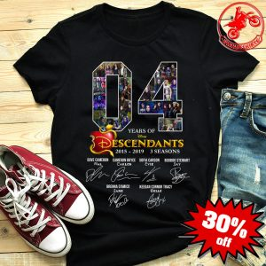 4 years of Descendants 2015-2019 signature shirt