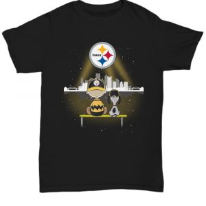 Charlie Brown And Snoopy Watching City Pittsburgh Steelers shirt