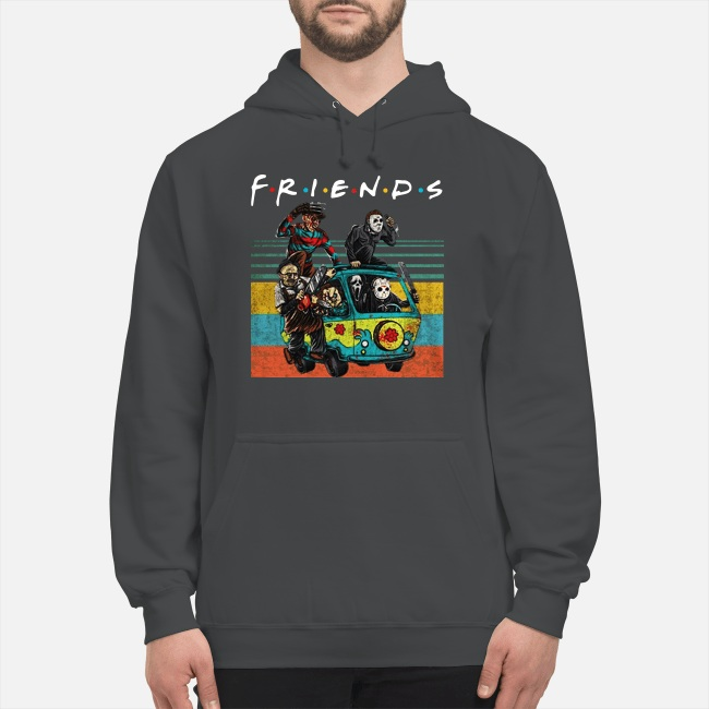 Friends Michael Myers Freddy Krueger Jason Voorhees Chucky Ghostface Driving Car Hoodie