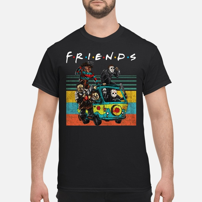 Friends Michael Myers Freddy Krueger Jason Voorhees Chucky Ghostface Driving Car Unisex Shirt