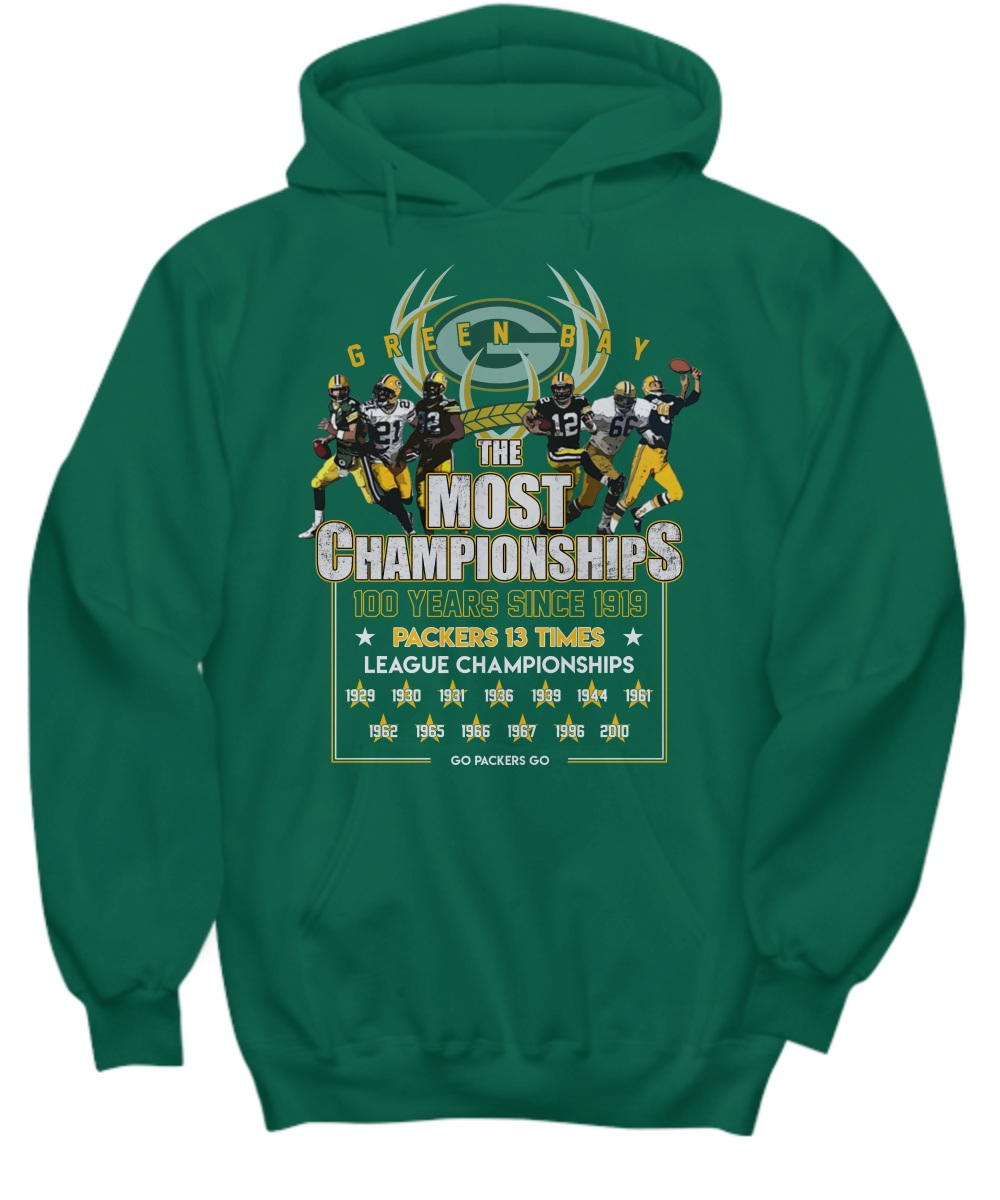 Green Bay Packers the most championships 100 years hoodie