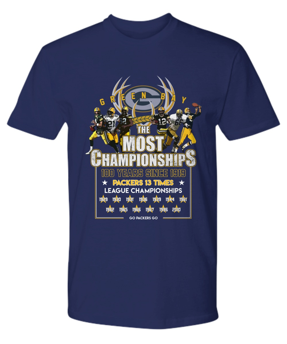 Green Bay Packers the most championships 100 years premium shirt