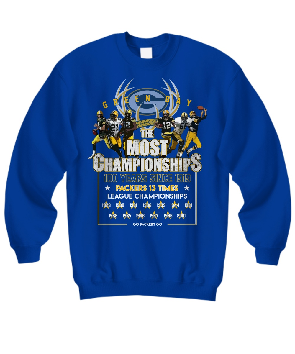 Green Bay Packers the most championships 100 years sweatshirt