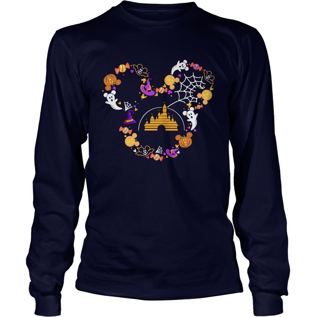 Halloween Disney face Long Sleeve