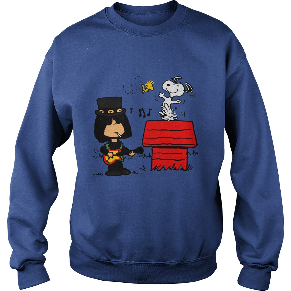 Slash Guns N' Roses Snoopy and Woodstock sweatshirt