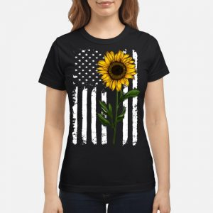Sunflower American Flag USA Shirt