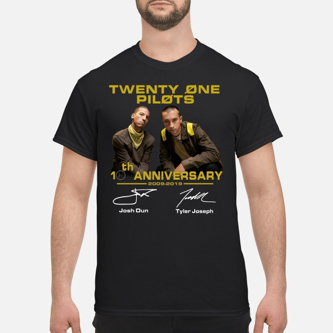 Twenty One Pilots 20th Anniversary 2009-2019 Signature men shirt