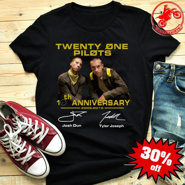 Twenty One Pilots 20th Anniversary 2009-2019 Signature shirt