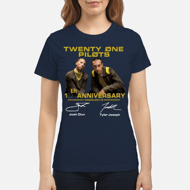 Twenty One Pilots 20th Anniversary 2009-2019 Signature women shirt