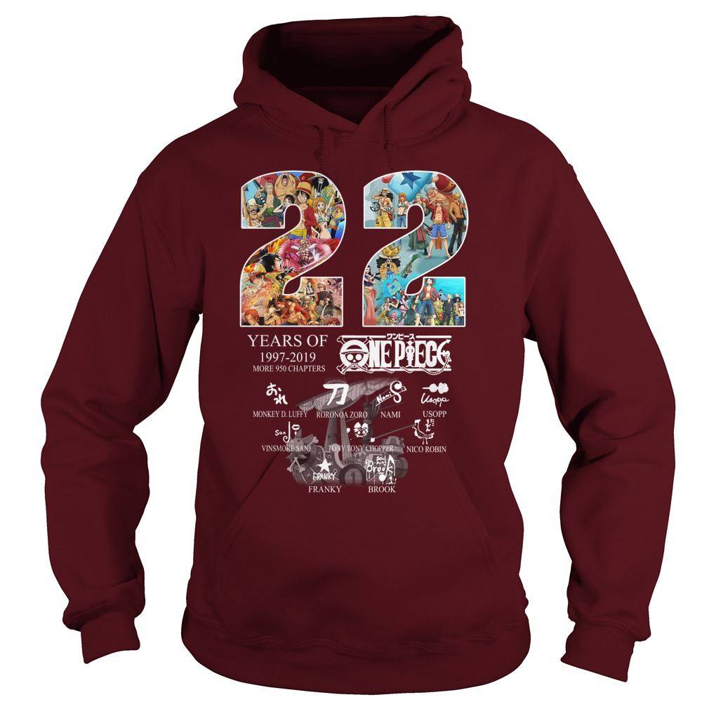22 years of 1997-2019 One Piece Signature Hoodie