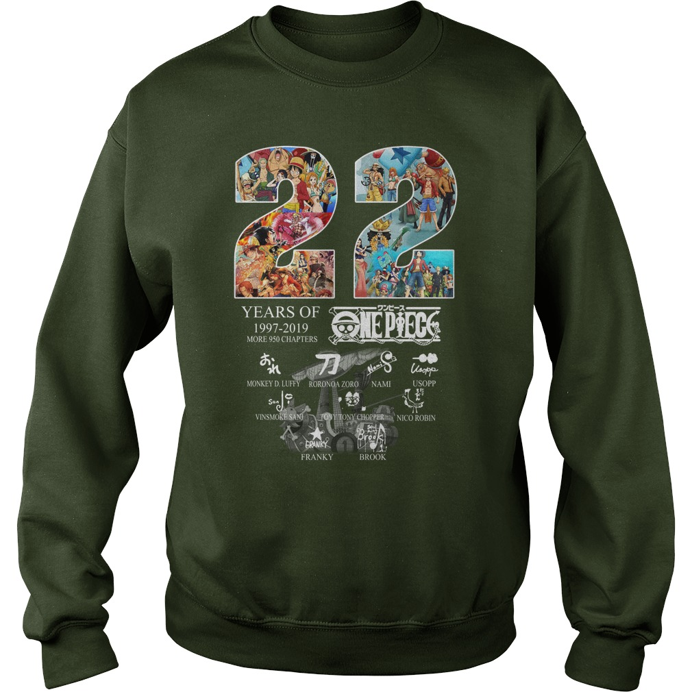 22 years of 1997-2019 One Piece Signature Sweatshirt