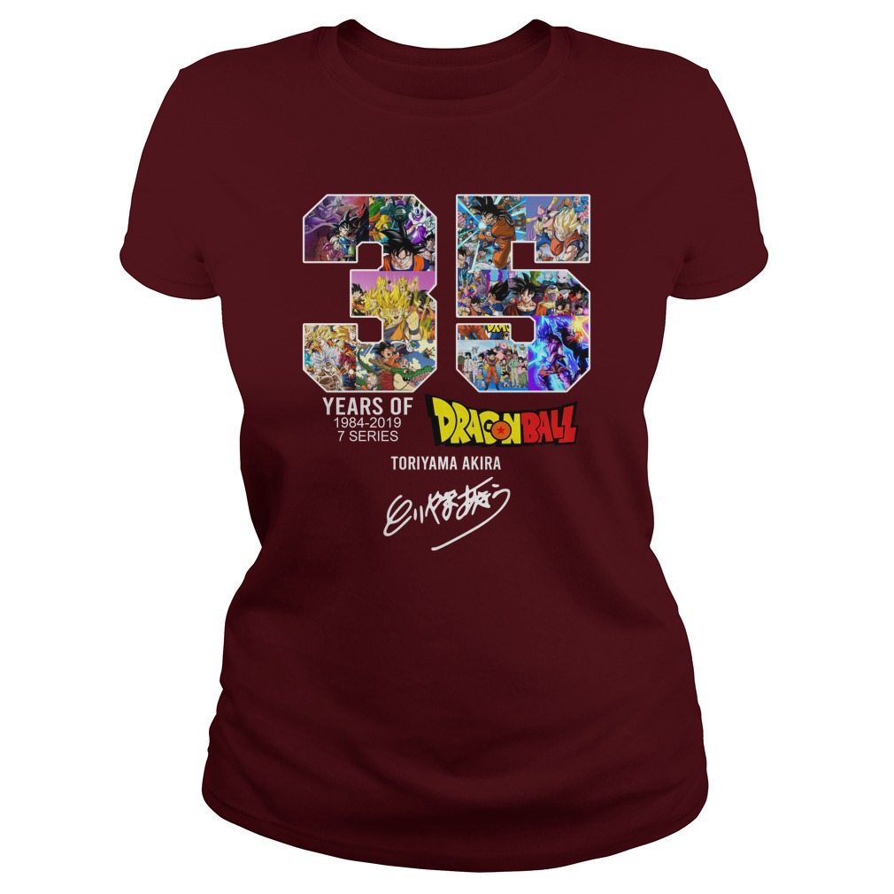 35 years of Dragon ball 1984-2019 signature lady shirt
