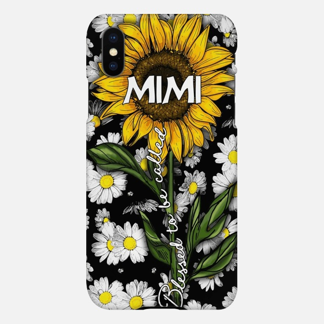 Blessed to be called mimi sunflower case