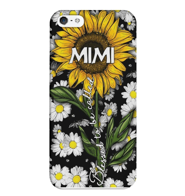 Blessed to be called mimi sunflower iPhone 5 case