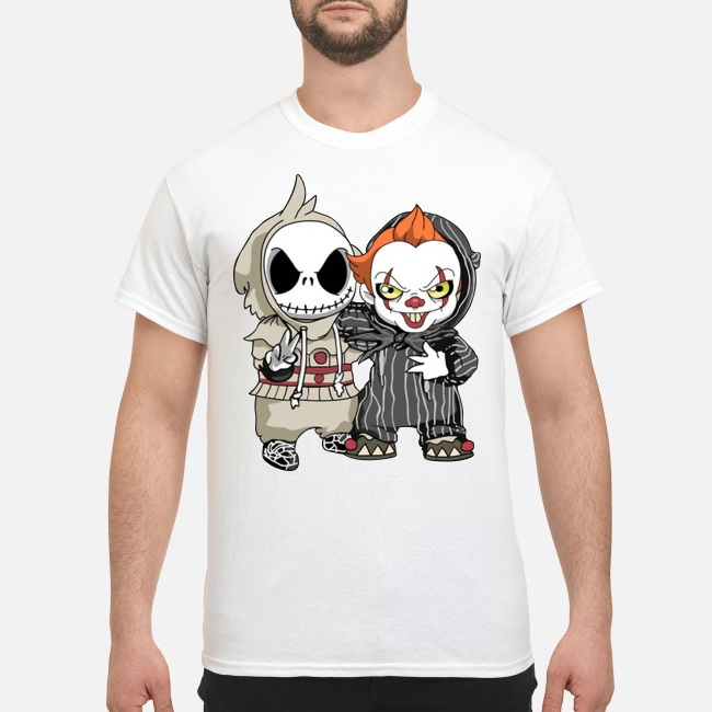 Halloween Baby Jack Skellington and Pennywise shirt