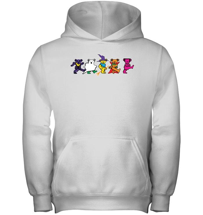 Halloween grateful dead dancing bears kid hoodie