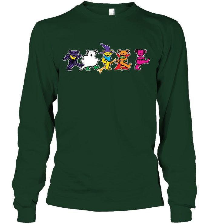 Halloween grateful dead dancing bears long sleeve